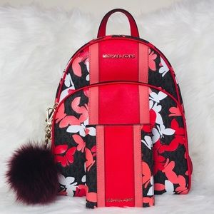 3PCS Michael Kors Abbey Butterflies Backpack Set